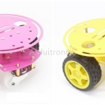 Assembled 2WD Metal Smart Car Chassis (โครงเหล็กสี Yellow หรือ Pink)