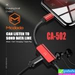 สายชาร์จ iPhone+ที่แยกสายหูฟัง Mcdodo CA-502 ราคา 260 บาท ปกติ 650 บาท