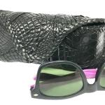 Crocodile case กล่องแว่นตา สุดเทห์ หนังจระเข้แท้ สวยงามมาก สำหรับทั้งชาย - หญิง
