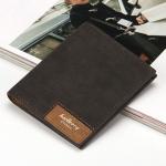 พร้อมส่ง กระเป๋าสตางค์หนัง นักศึกษาผู้ชาย กระเป๋าเงินแฟชั่นเกาหลี ยี่ห้อ baellerry รหัส BA-13855-2 สีดำ 2 ใบ ใบสั้นทรงตั้ง *ไม่มีกล่อง