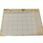 Monthly planer สีขาว (ราคา/แพ็ค 20 แผ่น)