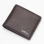 พร้อมส่ง กระเป๋าสตางค์ใบสั้น กระเป๋าเงินผู้ชาย หนัง แฟชั่นเกาหลี ยี่ห้อ baellerry รหัส BA-D3001 สีน้ำตาลเข้ม 2 ใบ