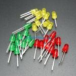 5mm LED Pack (red, green, yellow) 10 each 30 pcs
