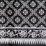 ผ้าถุงขาวดำ ec3346bk