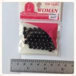 ลูกปัด สีดำ ขนาด 6 มม. 40เม็ด/ห่อ (6 mm black beads)