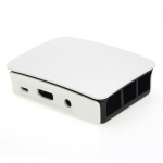 Official Raspberry Pi B+/2/3 Case (Black & White Color) สีขาวดำ มีโลโก้ Pi