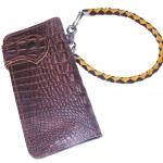 Pretty Genuine CowHide Leather in Pattern Of Crocodile Skin กระเป๋าทรงยาวอัดลายเป็นหนังจระเข้ดูเสมือนจริง80%