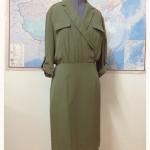 ชุดเดรส ใส่ทำงาน สีเขียวขี้ม้า Olive Dress #workingdress #ชุดทำงาน