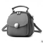 Pre-order กระเป๋าเป้สะพายหลังผู้หญิงใบเล็ก ปรับสะพายข้างได้ แฟชั่นเกาหลี รหัส Yi-2501 สีเทา