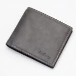 พร้อมส่ง กระเป๋าสตางค์ใบสั้น กระเป๋าเงินผู้ชาย หนัง แฟชั่นเกาหลี ยี่ห้อ baellerry รหัส BA-D3001 สีเทาเข้ม 2 ใบ