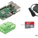 Raspberry Pi 3 Model B+ (Rpi Kit 8) ของแท้ UK (New Model 2018) Green Clear Case