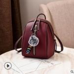 Pre-order กระเป๋าเป้ใบเล็ก ทรงหลังเต่า แฟชั่นสไตล์เกาหลี Yi-1001 สีม่วงมะเหมี่ยว *แถมจี้ป๋อม