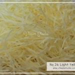 กระดาษฝอยสีเหลืองนวล No.26 Light Yellow