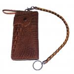 Pretty Genuine CowHide Leather in Pattern Of Crocodile Skin กระเป๋าทรงยาวอัดลายเป็นหนังจระเข้ดูเสมือนจริง80% งานสวย งานเนี๊ยบ สำเนา