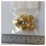 กระพรวน สีทอง ขนาด 1.5 ซม. 5 อัน/ห่อ (1.5 cm golden collar bells)