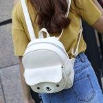 พร้อมส่ง กระเป๋าเป้หมีแพนด้าใบเล็กสะพายหลังและปรับสะพายข้างแฟชั่นเกาหลี รหัส X-536 สีขาว 1 ใบ
