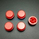 สีแดง B3F Tactile Switch Cap Round Button Cap 12x12x7.3mm แพค 5 ตัว