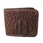 Very Nice Cowhide Leather BiFold Wallet For You กระเป๋าสตางค์ แบบ 2 พับ แบบหนังอัดลายหนังจระเข้สวยเก๋สะดุดตาหนังนิ่ม นุ่มมือ สำเนา