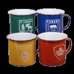 10cm Enamel Mug / Stainless rim