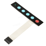 5 Key Membrane Switch Keypad Matrix พร้อม LED
