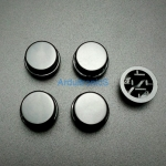 สีดำ B3F Tactile Switch Cap Round Button Cap 12x12x7.3mm แพค 5 ตัว
