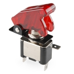 Toggle Switch and Cover - Illuminated - Red (จาก SparkFun)