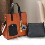 Pre-order กระเป๋าถือและสะพายข้าง ผู้หญิง แฟชั่นเกาหลี รหัส Yi-0201 สีน้ำตาล *แถมป๋อมหมี