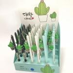 ปากกาเจลกระบองเพชรหมึกเจลน้ำเงิน (กล่อง 36 ด้าม)