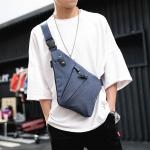 พร้อมส่ง ขายส่ง กระเป๋าคาดอก สะพายสบายๆกลางแจ้ง แฟขั่นเกาหลี รหัส Man-9885-71 สีน้ำเงิน 1 ใบ รุ่นผ้า