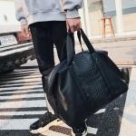 พร้อมส่ง กระเป๋าใบใหญ่ ถือและสะพายผู้ชายนักธุรกิจ กระเป๋าถือเดินทาง แฟขั่นเกาหลี รหัส Man-9963 สีดำ 1 ใบ