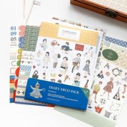 สติ๊กเกอร์ชุด : Diary Deco Pack Version 4