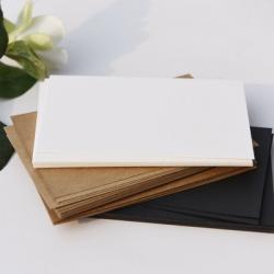 กระดาษการ์ดขาว/น้ำตาล/ดำ 10x15cm (10ใบ)