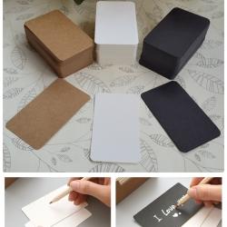 กระดาษการ์ดขาว/น้ำตาล/ดำ 300 แกรม (100 ใบ)