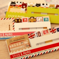 กระดาษโน๊ต : Retro and Cute Stick Marker