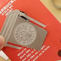 Book Mark-คลิปหนีบกระดาษ Starbucks