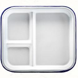 Square Enamel Food Plate