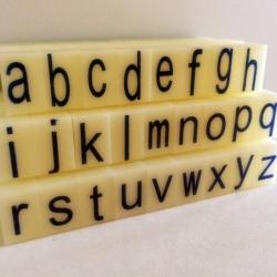 ตัวปั้มอักษร-พิมพ์เล็ก a-z