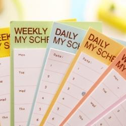 กระดาษโน๊ต Schedule Sticky Note