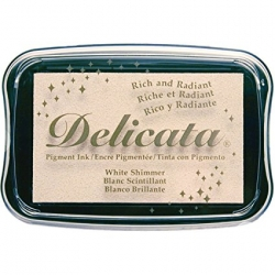 หมึกญี่ปุ่น Delicata Metallic - White Shimmer