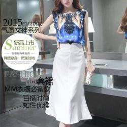 เสื้อผ้าแฟชั่นเกาหลี set เสื้อและกระโปรง สวยเก๋