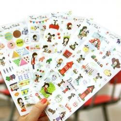 สติ๊กเกอร์ชุด : Odong et valerie Sticker Set