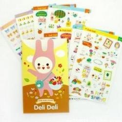 สติ๊กเกอร์ชุด : bunny romantic DIY stickers