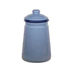 Enamel Vase w/ Lid
