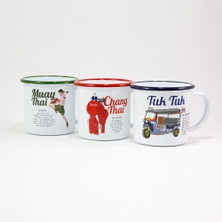 'Iconic Thai' Enamel Mug