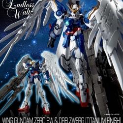 [P-Bandai] RG 1/144 Wing Gundam Zero Custom EW + Drei Zwerg Buster [Titanium Finish]