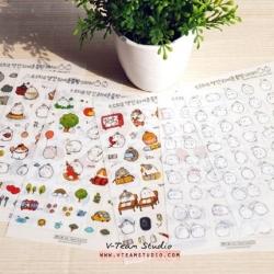 สติ๊กเกอร์ชุด : Molang Sticker V.2