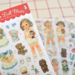 สติ๊กเกอร์ชุด : Paper Doll Mate V.2