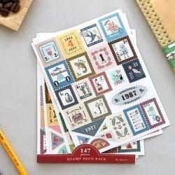 สติ๊กเกอร์ชุด : Stamp Deco Pack