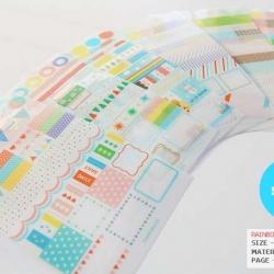 สติ๊กเกอร์ชุด : Rainbow Market Sticker