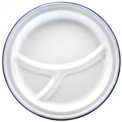 Round Enamel Food Plate